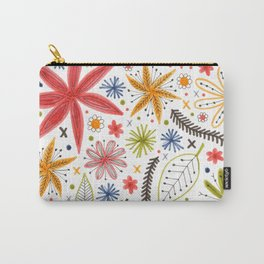 colorful funky floral pattern Carry-All Pouch