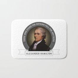 Alexander Hamilton U.S. Founding Father Quote Bath Mat