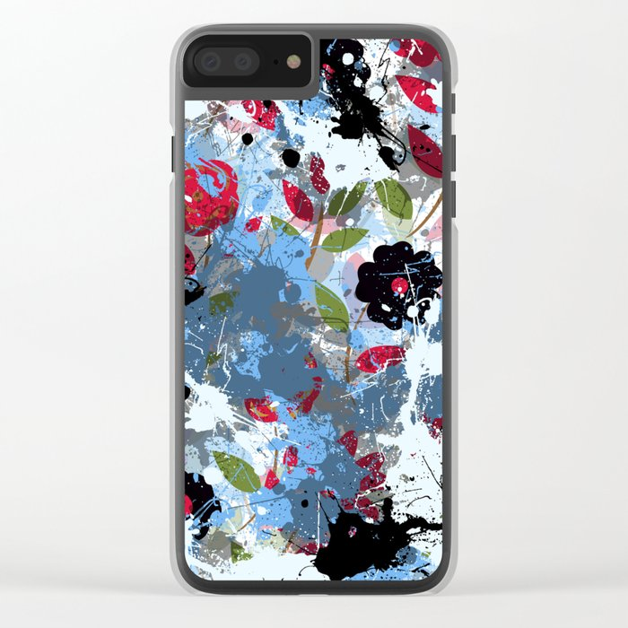 Abstract 16 Clear iPhone Case