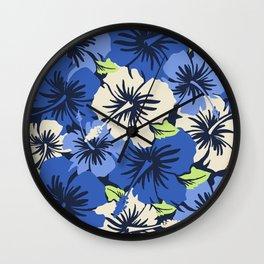 Epic Hibiscus Hawaiian Floral Aloha Shirt Print Wall Clock