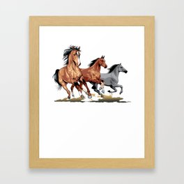 Running Horses Shirt - Gift For Horse Lovers Framed Art Print