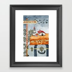 Suitcases are ready Framed Art Print