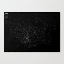 atNight / barcelona constellation Canvas Print