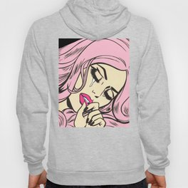 Pastel Pink Sad Girl Hoody
