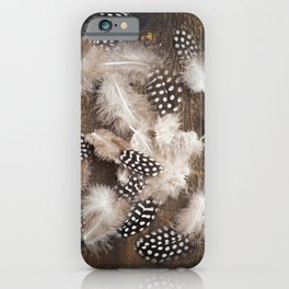 Feathers of guinea fowl iPhone Case