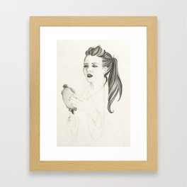 A Glimpse Framed Art Print