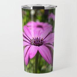 Macro Shot Of A Purple Osteospermum Travel Mug