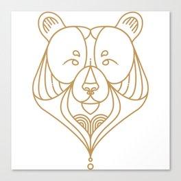 Gold Bear One Canvas Print