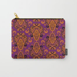 Golden Paisley Purple Carry-All Pouch