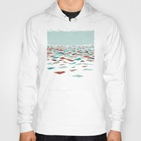 word Hoodies featuring Sea Recollection by Efi Tolia