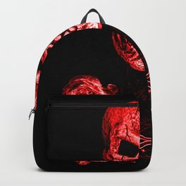 Skull And Crossbones Red Backpack