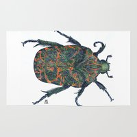 beetle Area & Throw Rugs featuring Beetle by MSRomeiro