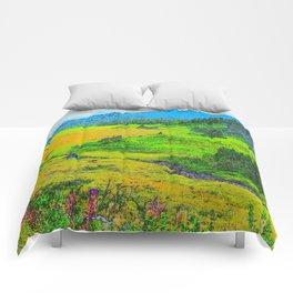Alaska's Kenai Peninsula - Watercolor Comforters