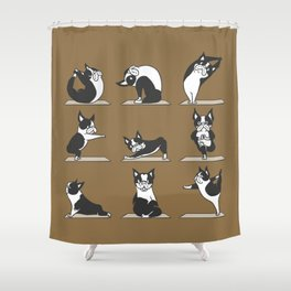 Boston Terriers Yoga Shower Curtain