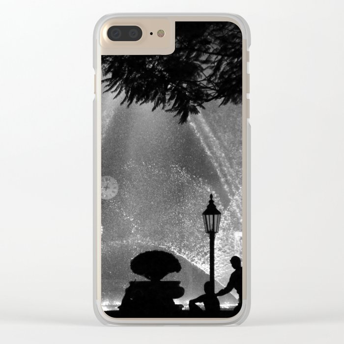 night time in the city Clear iPhone Case