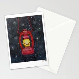 Lantern Night Sky Illustration Stationery Cards