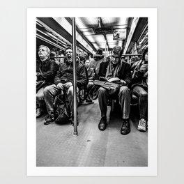 Parisian Commuters Art Print