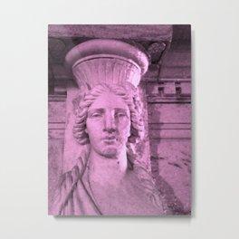 Classical Lady Pink Metal Print