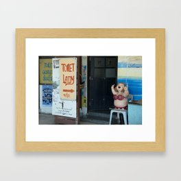 Toliet Lady  Framed Art Print