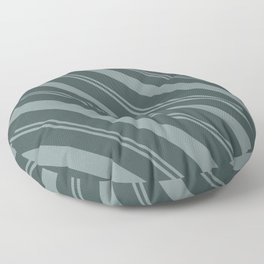 Scarborough Green PPG1145-5 Thick and Thin Angled Stripes on Night Watch PPG1145-7 Floor Pillow