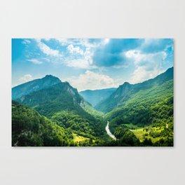 Landscape - Green Mountains  Canvas Print