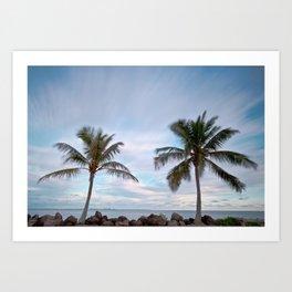 Swaying Palms Art Print