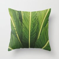 palm tree Throw Pillows featuring palm tree by Life Through the Lens