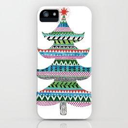 Christmas tree stripe iPhone Case