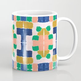 Shel - abstract painting boho modern bright minimal color palette gender neutral dorm college decor Coffee Mug