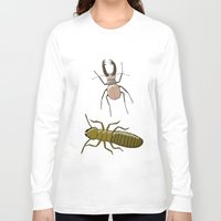 insects Long Sleeve T-shirts featuring two insects doing nothing by Rob Million