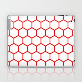 White and red honeycomb pattern Laptop & iPad Skin