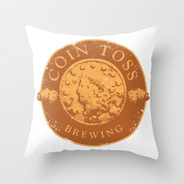 Coin Toss Brewing Throw Pillow