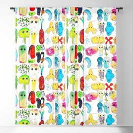 Rainbow Microbes Blackout Curtain