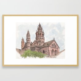 Mainz Cathedral Framed Art Print