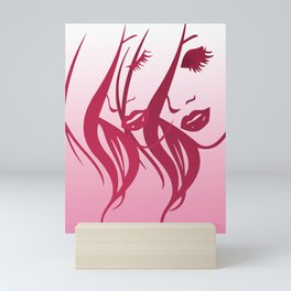 Lady In Red Mini Art Print