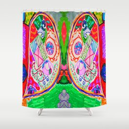 Pop Angel by Elisavet Shower Curtain