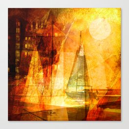 Coming home to harbour Canvas Print