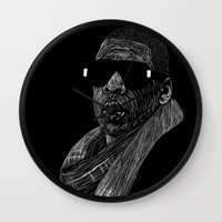 jay z Wall Clocks featuring Jay-Z by William