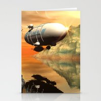 led zeppelin Stationery Cards featuring Zeppelin by nicky2342