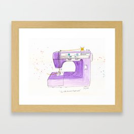 Little Kenmore Sewing Machine Framed Art Print