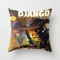 django Throw Pillows featuring Django by Don Kuing