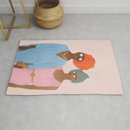 Colorfully Dressed Rug