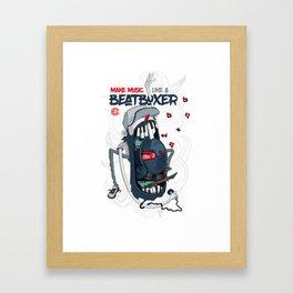 Make Music Beatboxer Framed Art Print