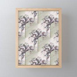 Cherubs & Clockwork Hearts Framed Mini Art Print