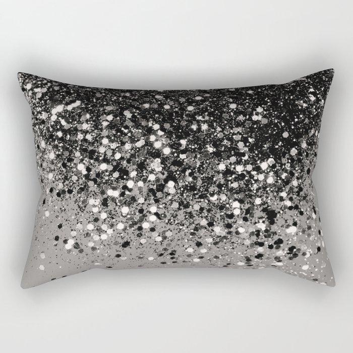 Silver Gray Glitter #1 #shiny #decor #art #society6 Rechteckiges Kissen