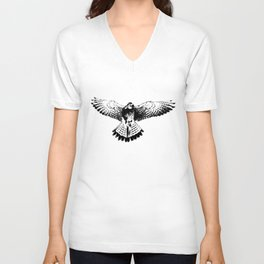 Kestrel flapping its wings Unisex V-Neck