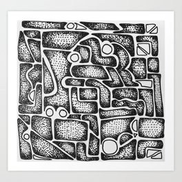 Abstract Aztec Art Print