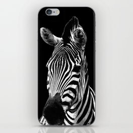 Zebra Black iPhone Skin