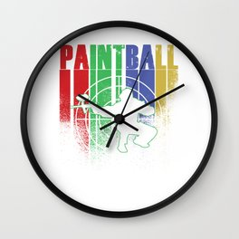 Paintball Retro Vintage Paintball Player Gift Wall Clock
