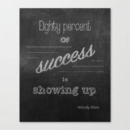 Woody Allen Quote Canvas Print